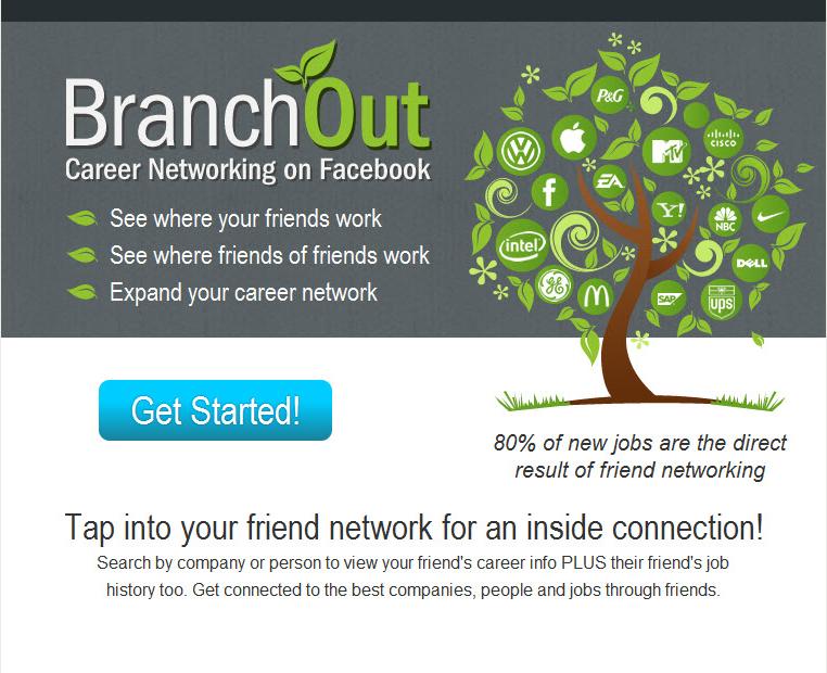 Обзор приложений для Facebook: BranchOut