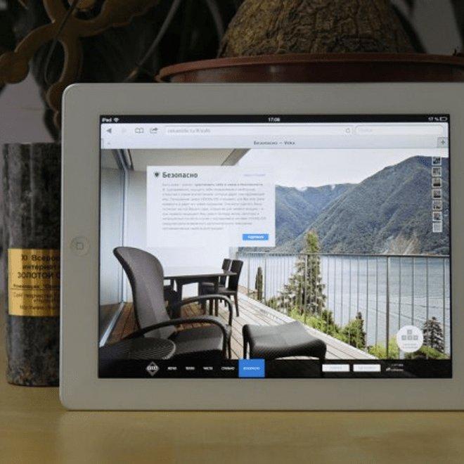 Сайт для Vekа: «диагональная» верстка и оптимизация под iPad