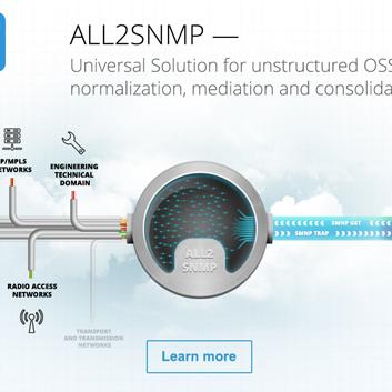 Сайт компании Initi и all2SNMP — продукта для консолидации разрозненных систем