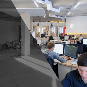 Пятничные картинки «Было-стало» про наш новый офис
