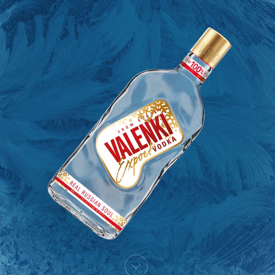 Композитный сайт для водки Valenki в студию!