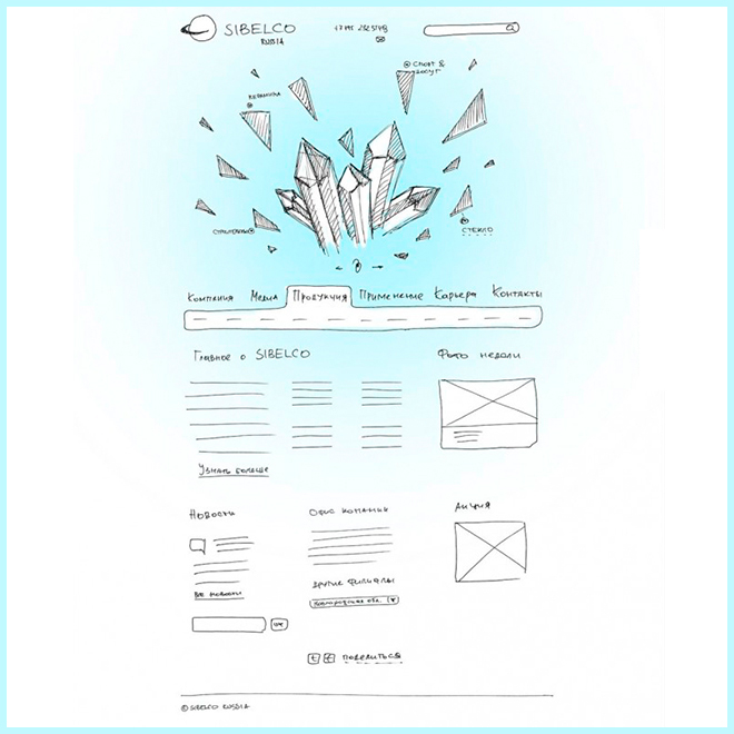 Sibelco — корпоративный сайт в кристалле